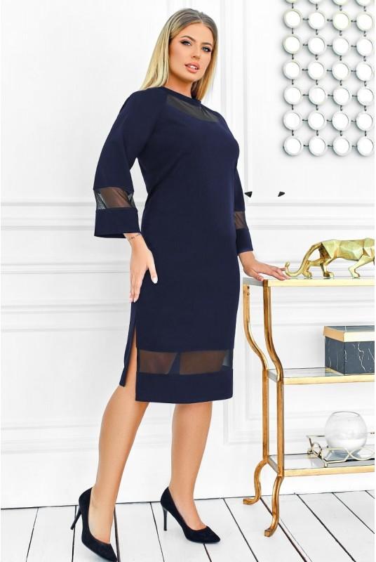 платье с сеткой, однотонное платье